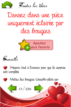 Coupons romantiques idees